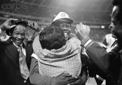 Hank Aaron Hugging His Mother