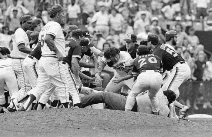 Brawl From Pitching Duels