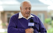 Dec 3, 2012; Nashville, TN, USA; Former baseball player and manager Tommy Lasorda talks with the media during the Major League Baseball winter meetings at the Gaylord Opryland Hotel. Mandatory credit: Don McPeak-USA Today Sports