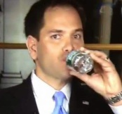 Marco Rubio Drinking Water