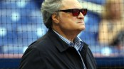 MIAMI, FL - APRIL 09: Owner Jeffrey Loria of the Miami Marlins watches his team prepare to play against the Atlanta Braves at Marlins Park on April 9, 2013 in Miami, Florida.  (Photo by Marc Serota/Getty Images)
