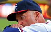 092414 Atlanta: Braves manager Fredi Gonzalez watches from the dugout against the Pirates during the first inning of a baseball game on Wednesday, Sept. 24, 2014, in Atlanta.    CURTIS COMPTON / CCOMPTON@AJC.COM